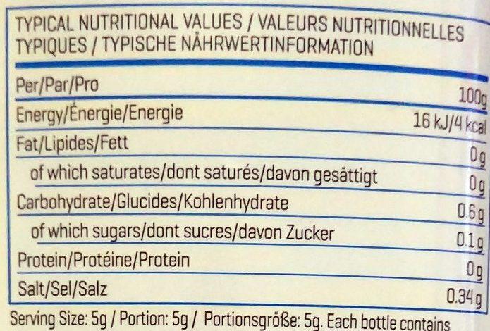 Sugar-Free Syrup - Nutrition facts - en