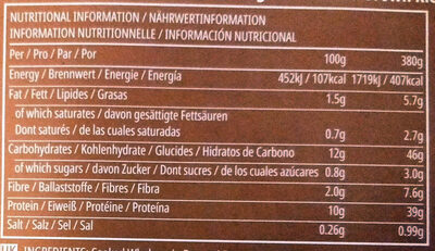 Spanish Chicken and Brown rice - Informations nutritionnelles