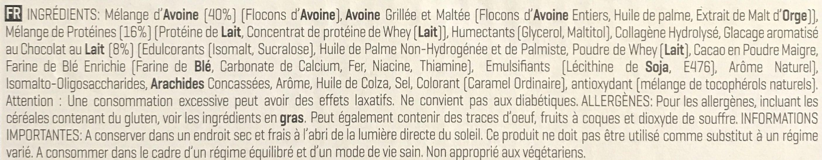 Oats & Whey Flapjack - Ingrédients - fr