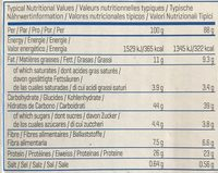 Oats & Whey Flapjack - Informations nutritionnelles - fr