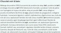 Barre Protéinée Elite Chocolat noir & Baie - Ingrédients - fr