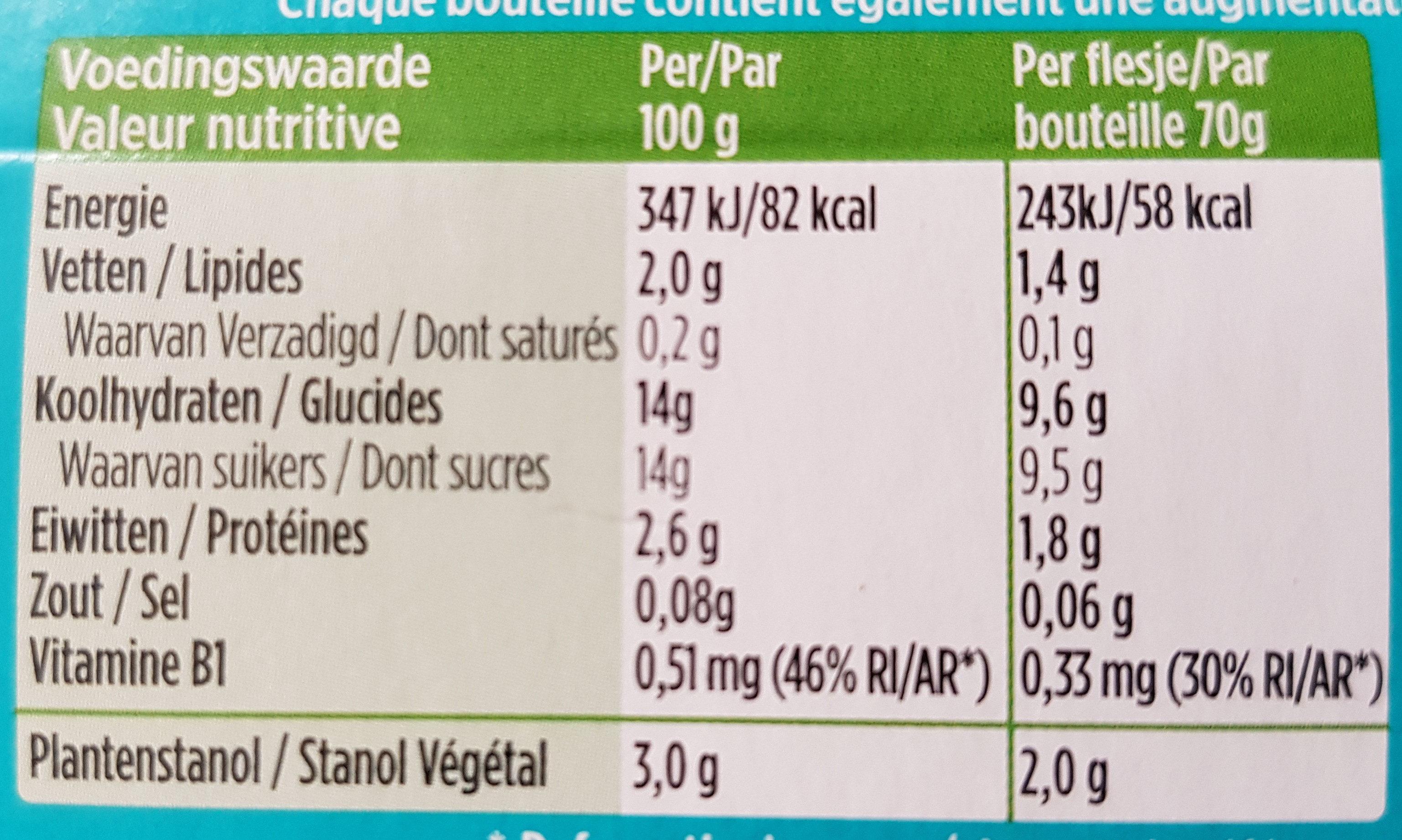 Benecol Yoghurt Drink 8X70G - Voedingswaarden
