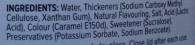 zero calorie syrup - Ingredientes