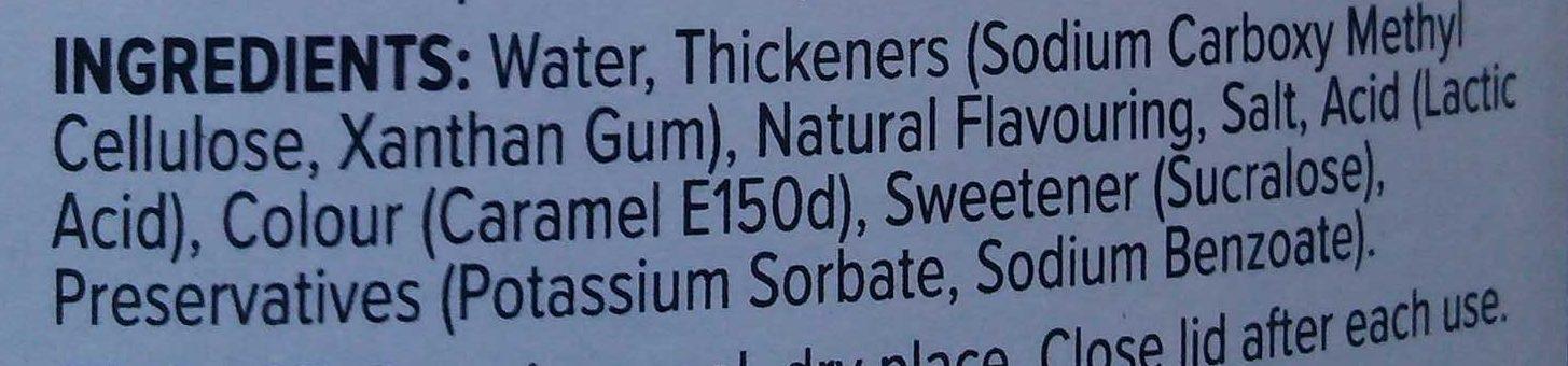 Zero calorie syrup - Ingredientes - en