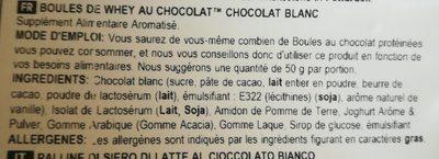 Chocolate whey balls - Ingrédients - fr
