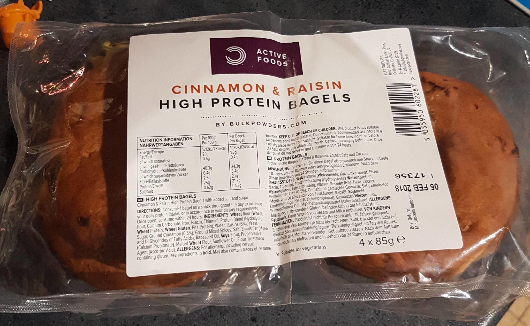 Bagels protéinés cannelle raisin - Produit - fr