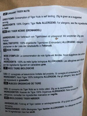 Noix tigree - Ingredients
