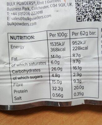 Macro Munch Chocolat Orange - Informations nutritionnelles - fr
