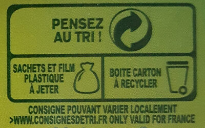 Thé vert saveur citron - Recycling instructions and/or packaging information - fr