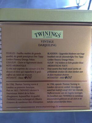 Vintage Darjeeling Blik - Ingredienti - fr