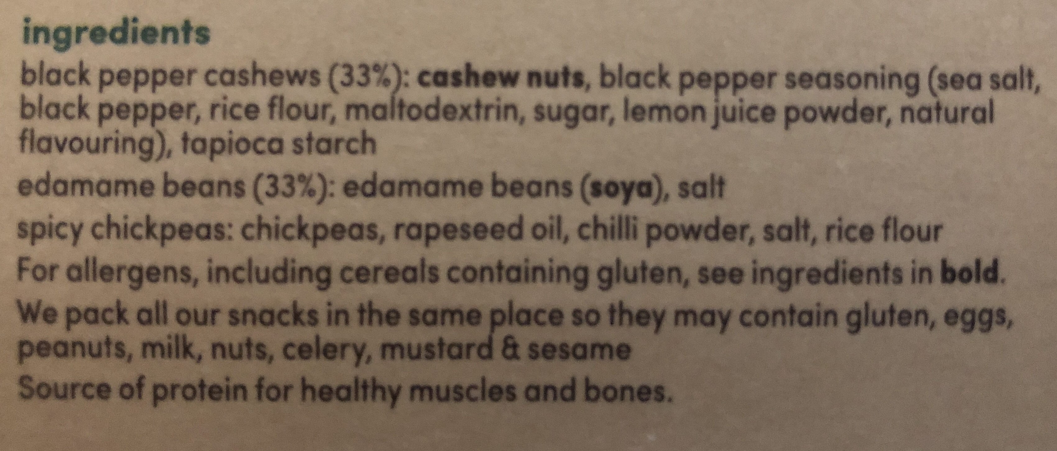 Graze Snack Box Veggie Protein Power - Ingrediënten - en