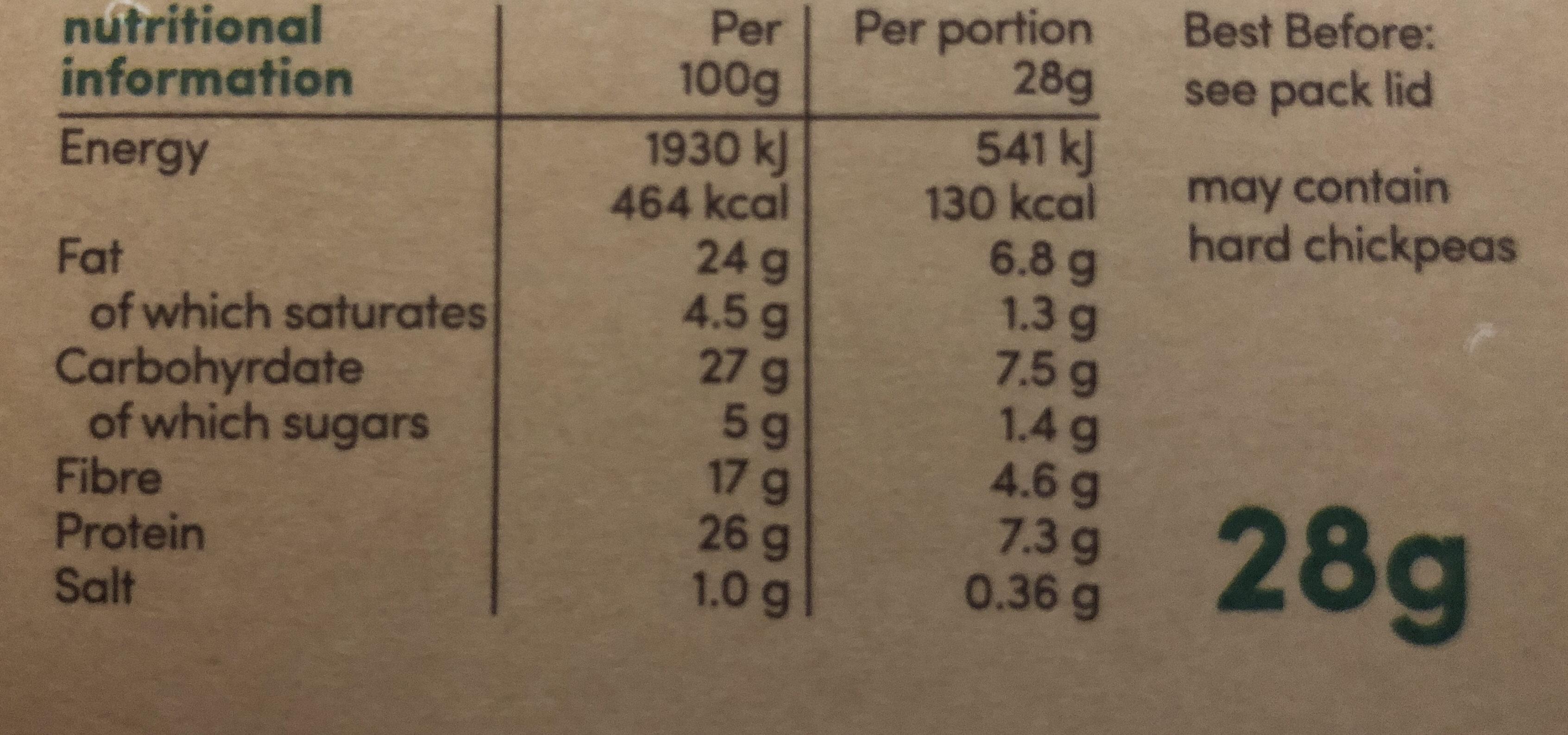 Graze Snack Box Veggie Protein Power - Voedingswaarden - en