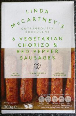 Linda McCartney Vegetarian Chorizo & Red Pepper Sausages - Product