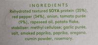 Linda McCartney Vegetarian Chorizo & Red Pepper Sausages - Ingredients