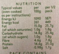 Real Fruit & Barley - Peach - Valori nutrizionali - en