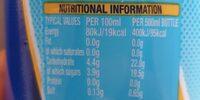 boost sport tropical berry - Valori nutrizionali - en