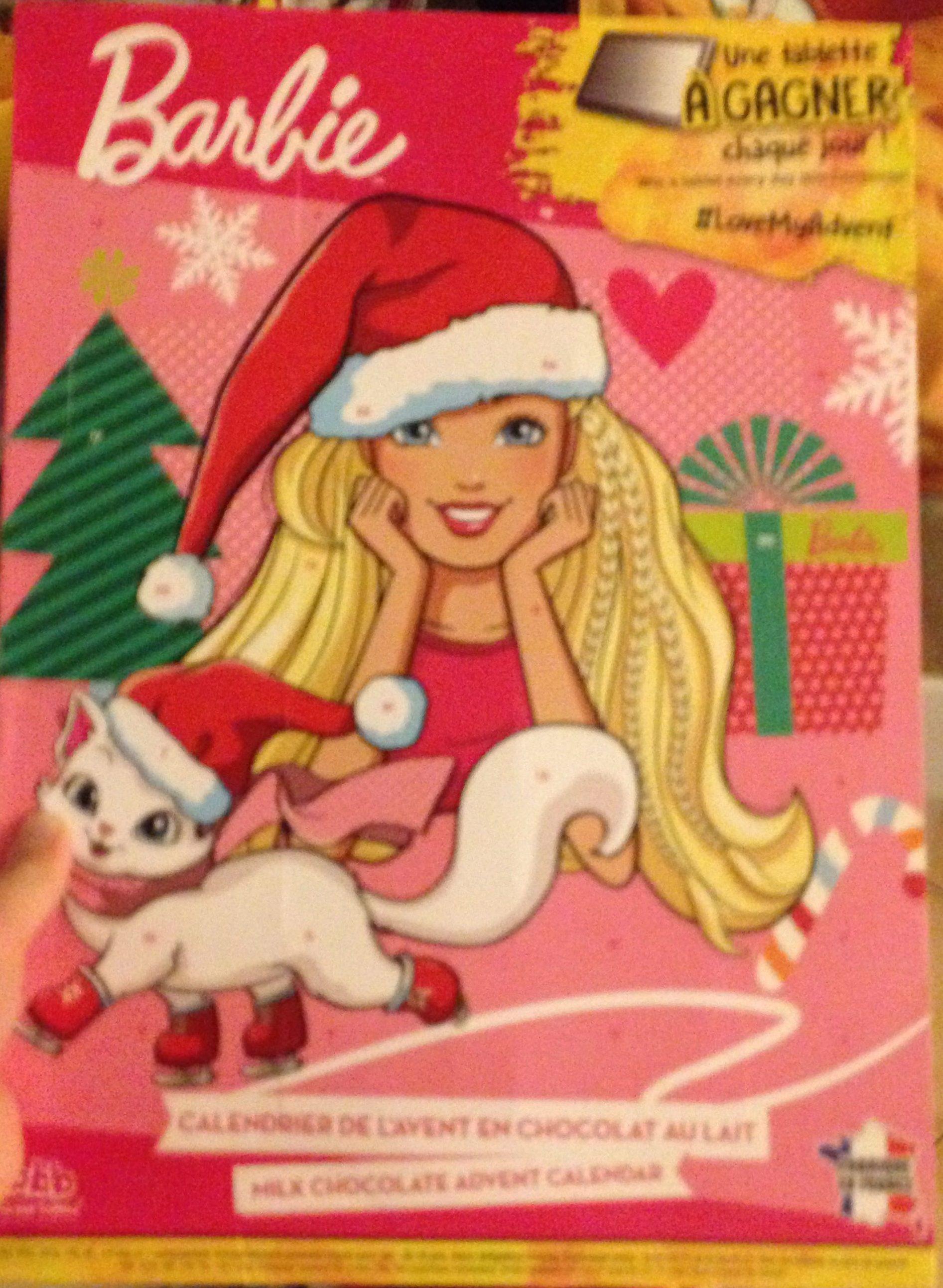 Calendrier Avent Barbie.Calendrier De L Avent En Chocolat Au Lait Barbie Bon Bon