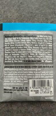 Sneak blue raspberry - Informations nutritionnelles - fr