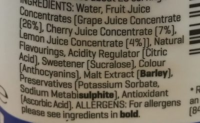 Water Enhancer, Wasseraroma Cherry Cola - Ingrediënten