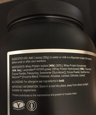 The Whey Chocolate Caramel, the Whey - Ingredients - fr