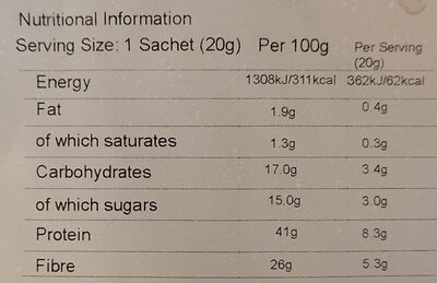 Skinny hot chocolate - Informations nutritionnelles