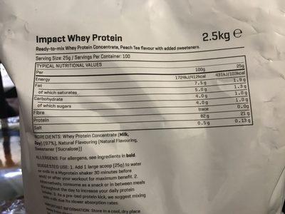 Impact Whey - Ingrédients - fr