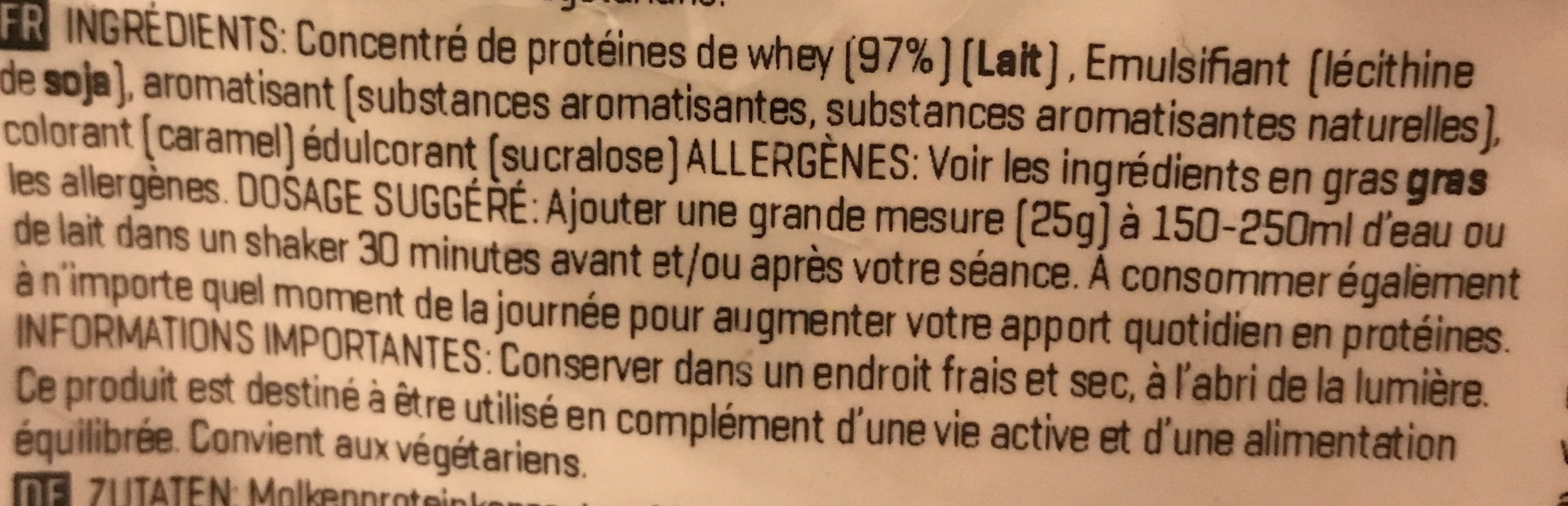Impact Whey Protein, Speculoos - Ingrédients - fr