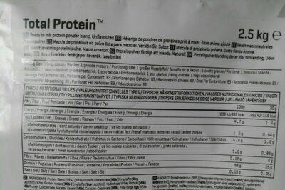 Total protein blend - Información nutricional - es