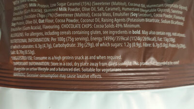 Filled protein cookie - Nutrition facts - en