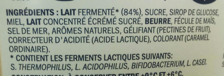 Miam caramel pointe de sel - Ingredients
