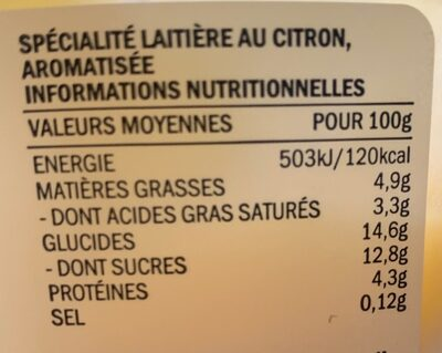 Citron de sicile - Nutrition facts