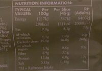 Super Seeded Brown Bloomer - Informations nutritionnelles - en