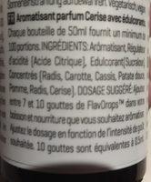 Flavdrops cherry flavour - Ingredients