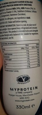 Impact protein shake - Informations nutritionnelles - fr