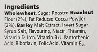 Tesco Malt Wheats Choco-nut Cereal 500G - Ingredients