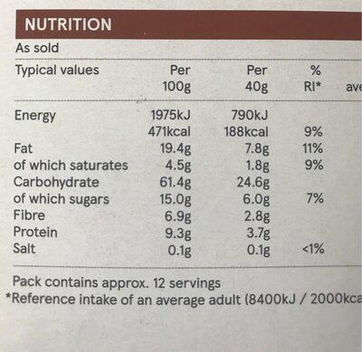 Chocolate Crisp - Voedingswaarden - en