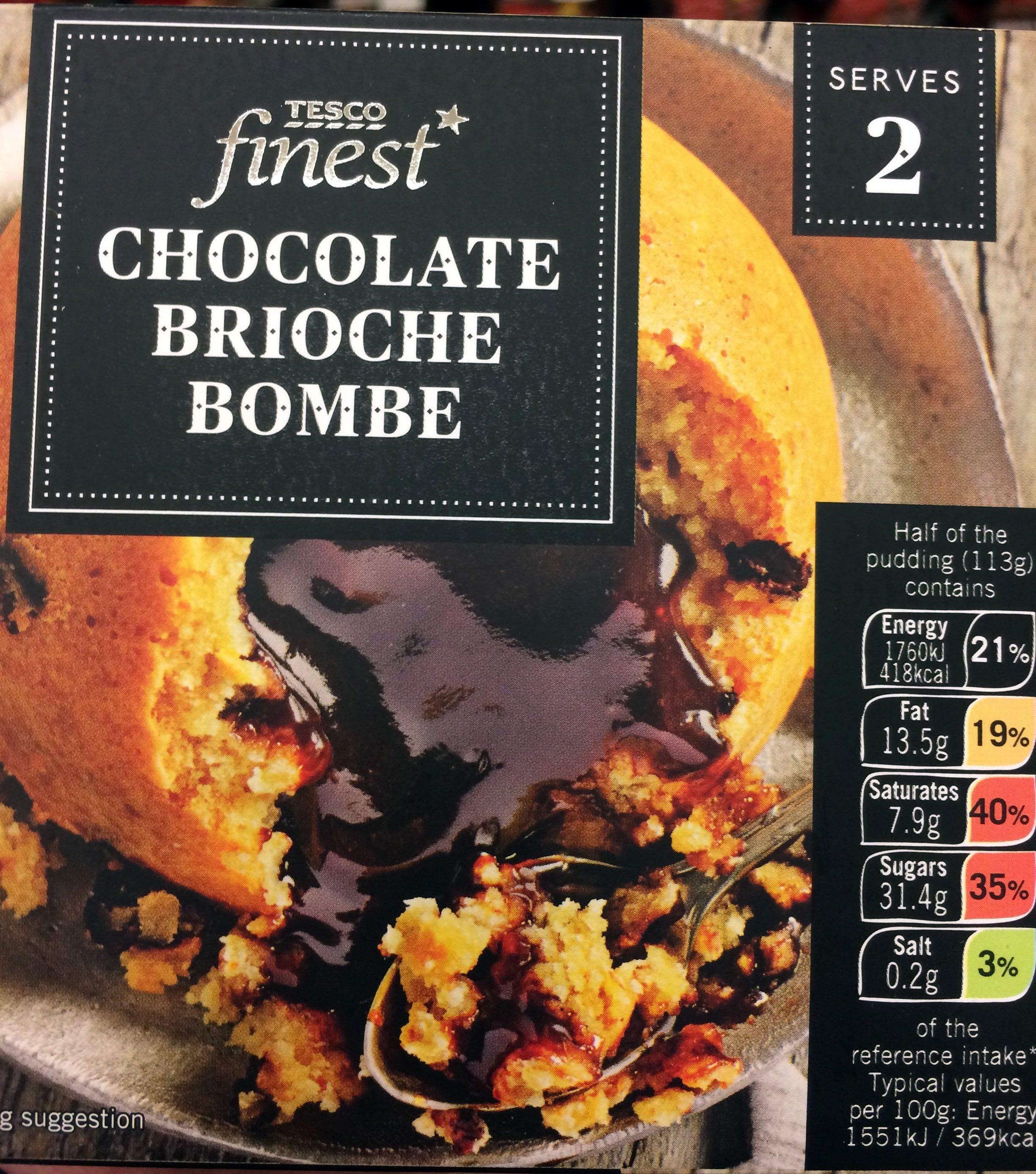 Chocolate brioche bombe - Product