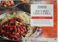 spicy beef chilli and rice - Product