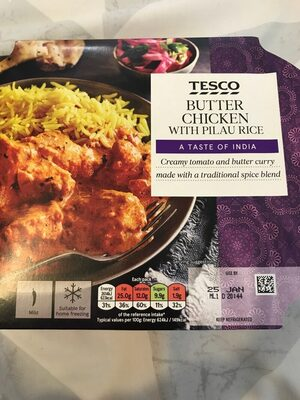 Butter chicken with pilau rice - Producto - es