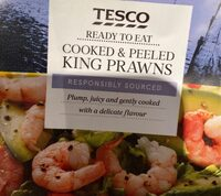 Tesco Cooked and peeled king Prawns - Product