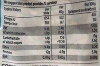 britsih porridge oats - Nutrition facts - en