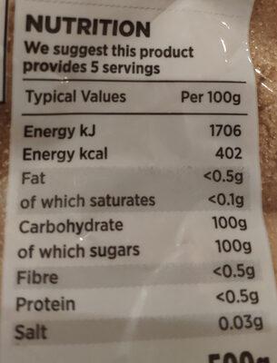 Light broen sugar - Nutrition facts - en