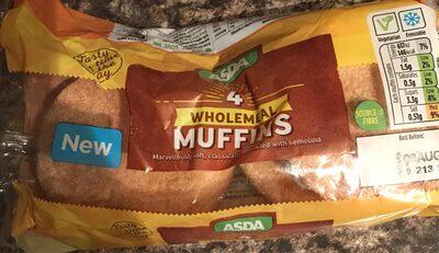 Wholemeal Muffins Asda