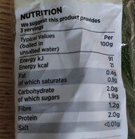 Grower's Selection Courgettes - Nutrition facts - en