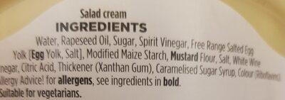 salad cream - Ingredients - en