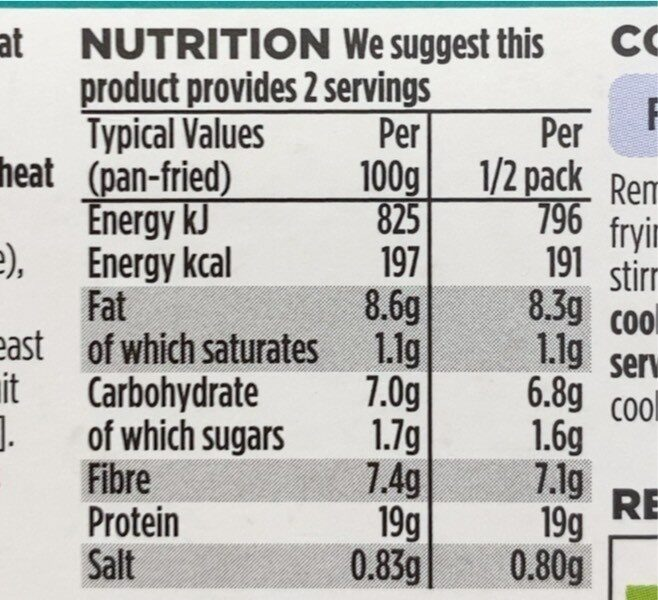 Beef style strips - Nutrition facts - en