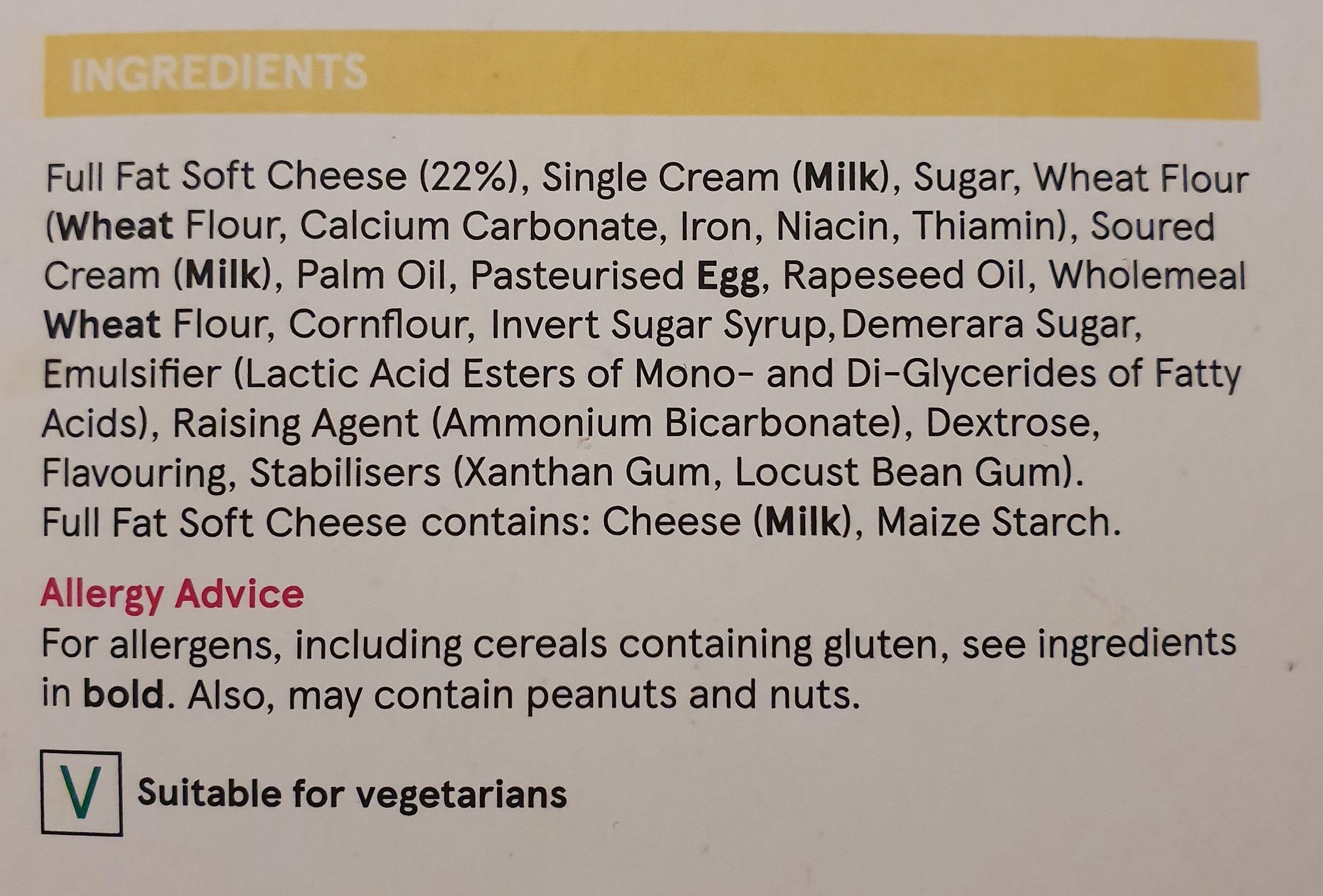Vanilla Cheesecake - Ingredienti - en