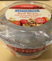 Red berry Oat Granola Yogurt. Gluten free. - Produit