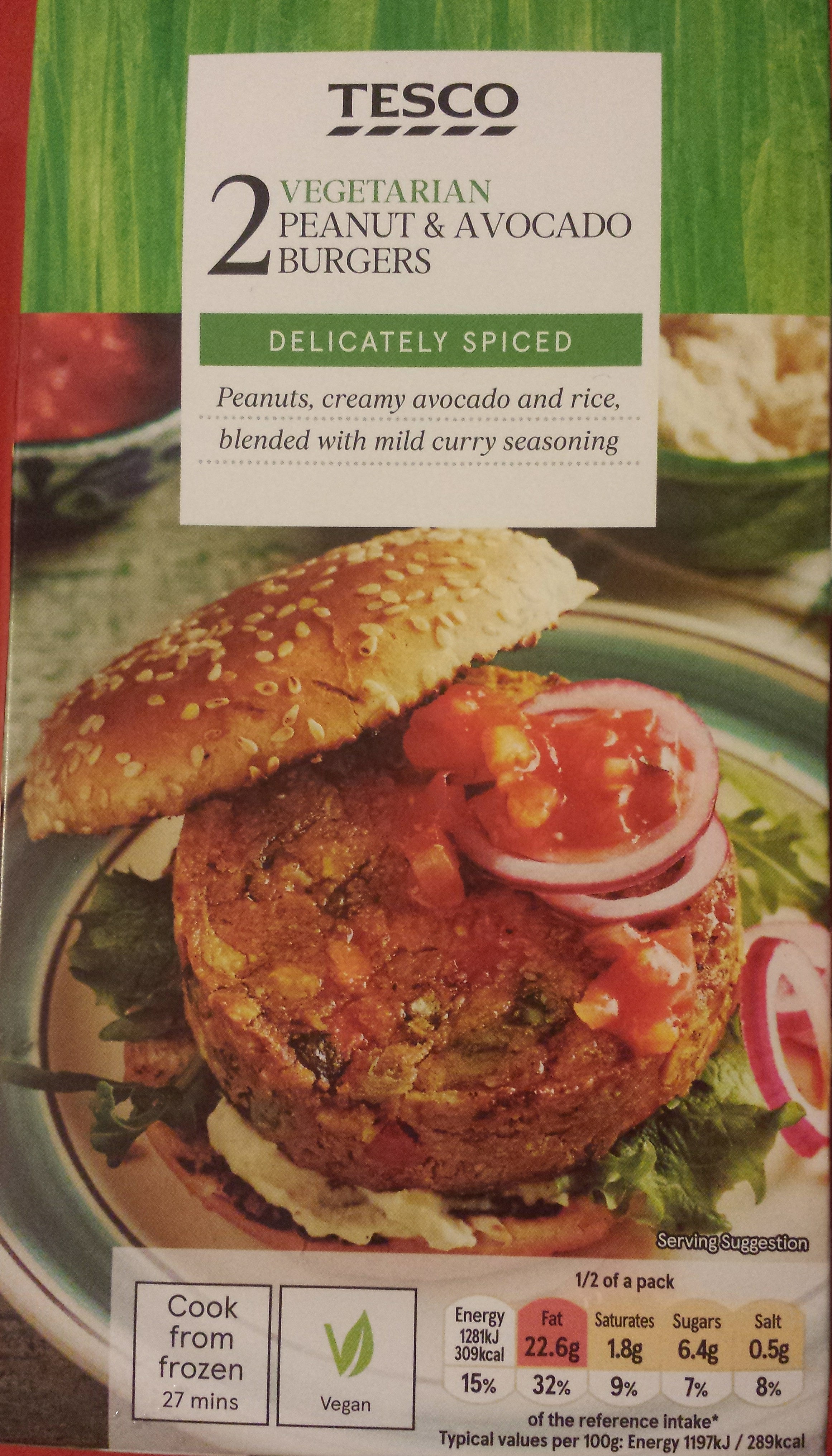 Peanut & Avocado Burgers - Produit - en