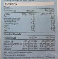 Soya Drink, Unsweetened - Valori nutrizionali - en